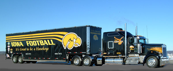 Hawkeyes Truck Painted by Jim Hetzler